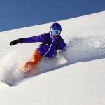 Snowboard dans la fraîche